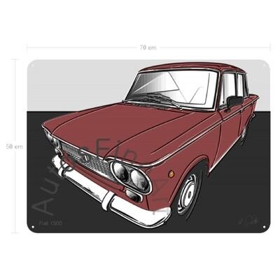 Fiat 1500 - Blechbild No. 157up