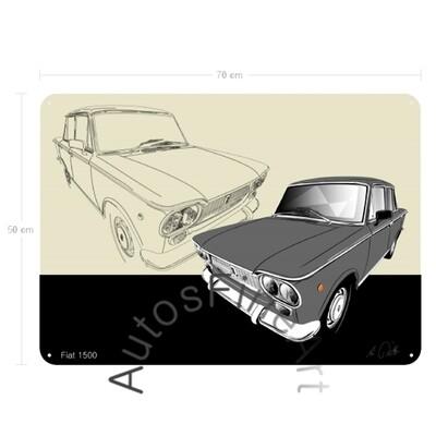 Fiat 1500 - Blechbild No. 157sketch