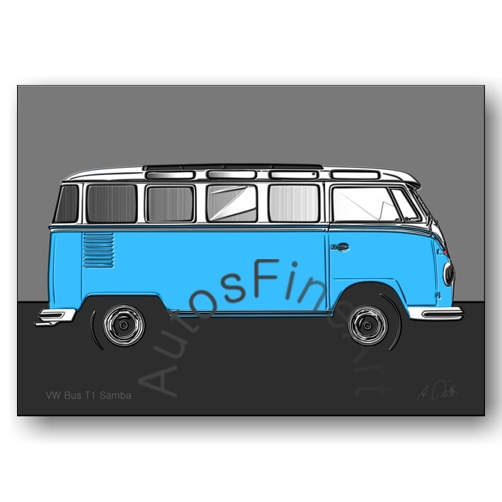 VW Bus T1 Samba - Poster No. 124up