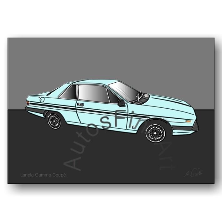 Lancia Gamma Coupé - Poster No. 36up
