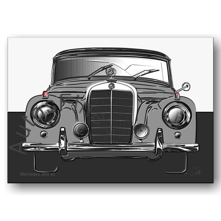 Mercedes 300 sc - HD Aluminiumbild No. 133up