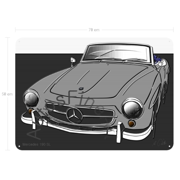 Mercedes 190 SL - Blechbild No. 134up