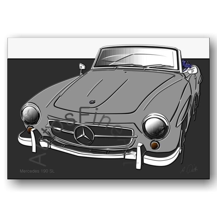 Mercedes 190 SL - HD Aluminiumbild No. 134up