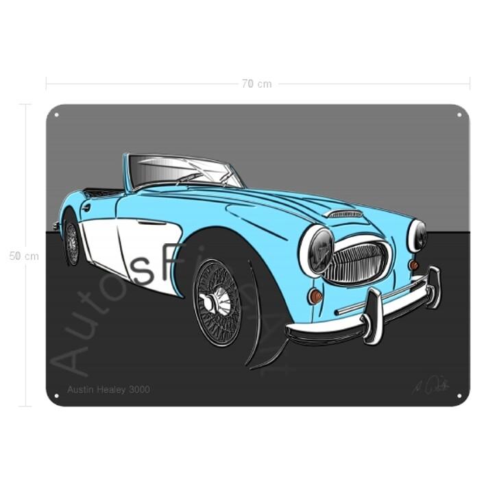 Austin Healey 3000 - Blechbild No. 139up