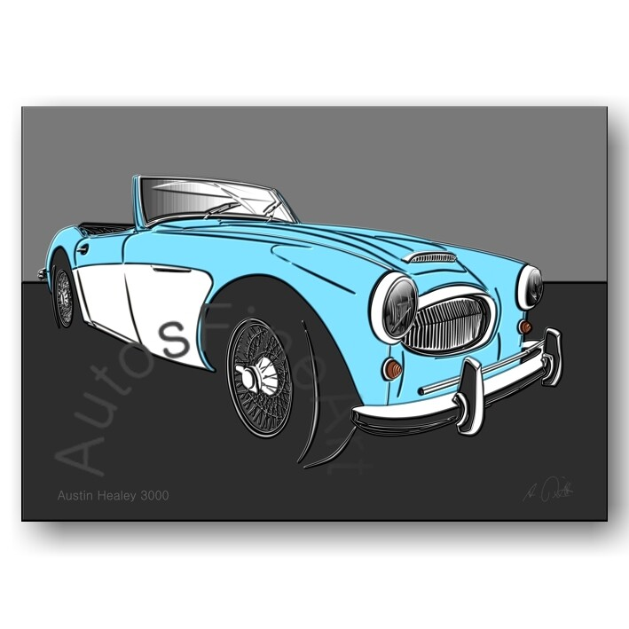 Austin Healey 3000 - Poster No. 139up
