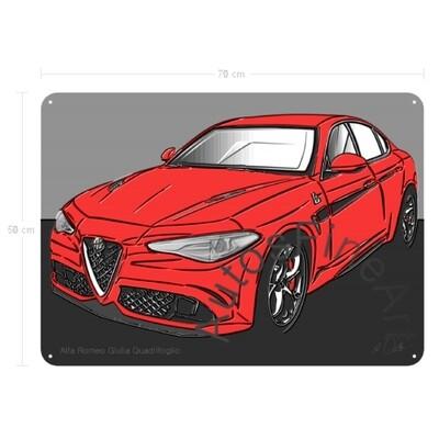 Alfa Romeo Giulia Quadrifoglio - Blechbild No. 151up