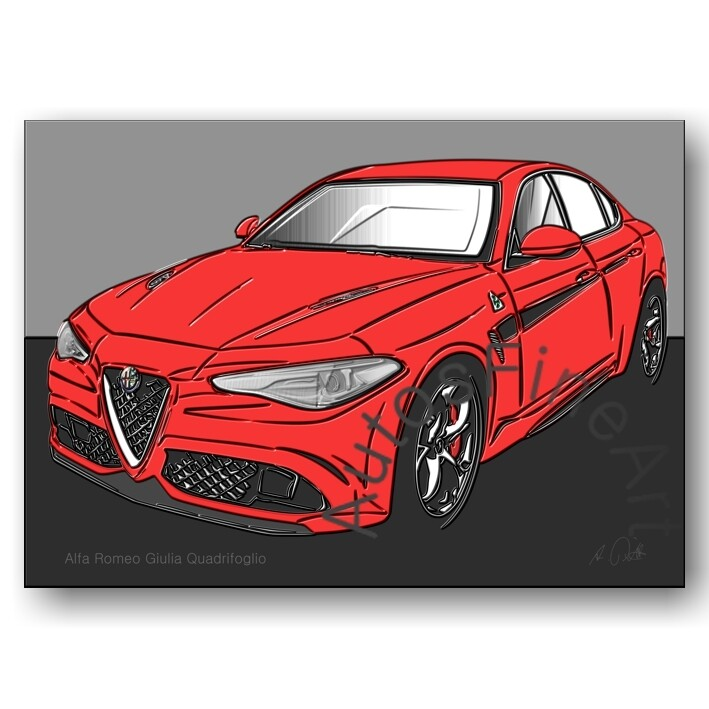 Alfa Romeo Giulia Quadrifoglio - HD Aluminiumbild No. 151up