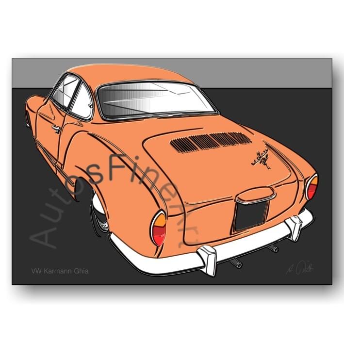 VW Karmann Ghia - Poster No. 154up
