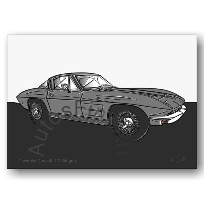Chevrolet Corvette C2 Stingray - Poster No. 156up