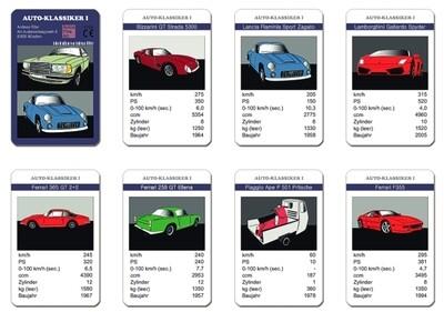 Quartett-Spielkarten AUTO-KLASSIKER I
