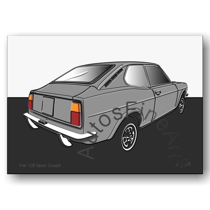 Fiat 128 Sport Coupé - HD Aluminiumbild No. 48up