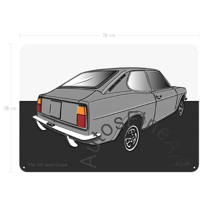 Fiat 128 Sport Coupé - Blechbild No. 48up