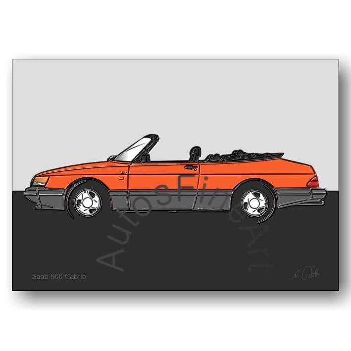 Saab 900 Cabrio - Poster No. 142up