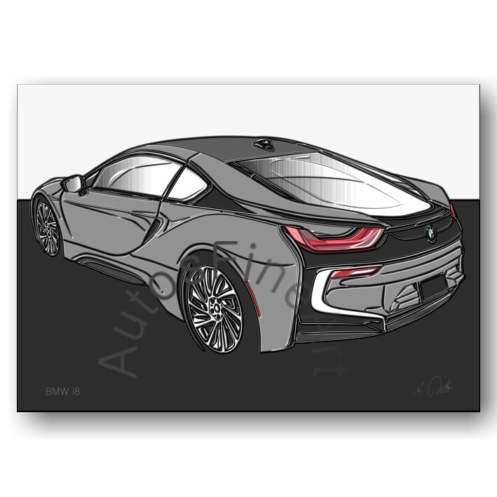 BMW i8 - HD Aluminiumbild No. 146up