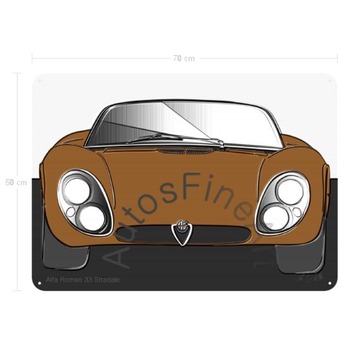 Alfa Romeo 33 Stradale - Blechbild No. 104up