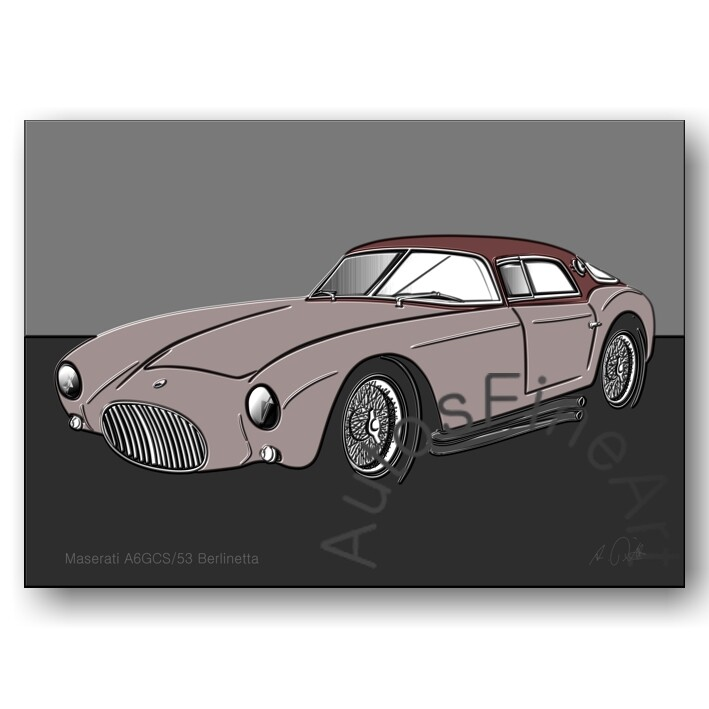 Maserati A6GCS/53 Berlinetta - Poster No. 105up