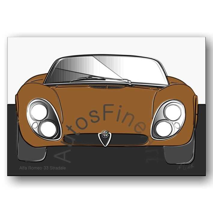 Alfa Romeo 33 Stradale - Poster No. 104up