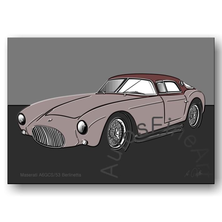 Maserati A6GCS/53 Berlinetta - HD Aluminiumbild No. 105up