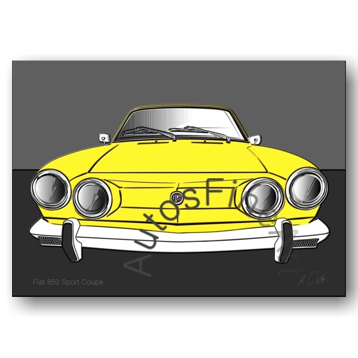 Fiat 850 Sport Coupé - Poster No. 106up