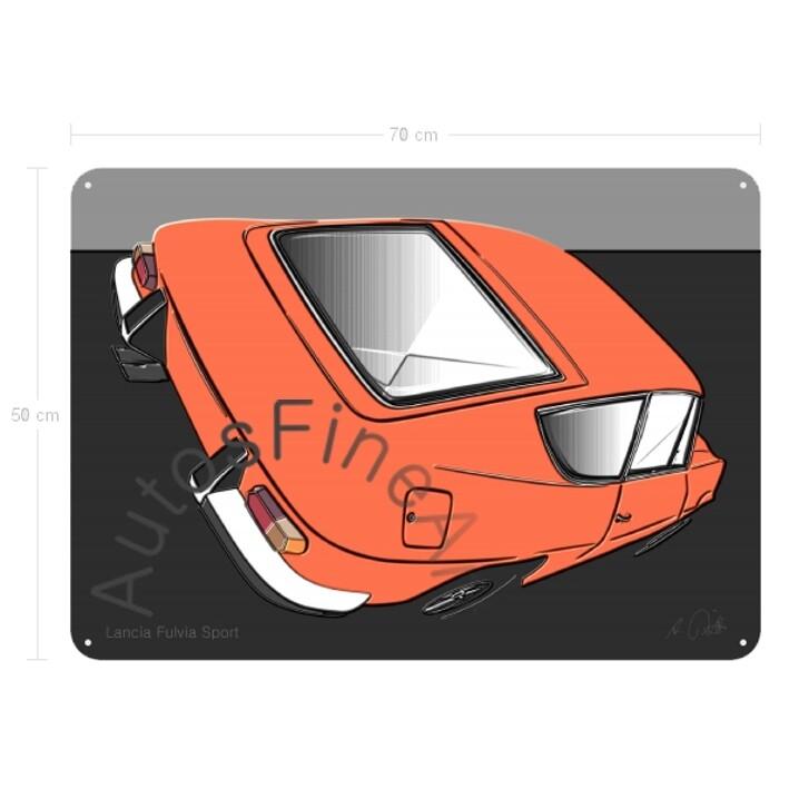 Lancia Fulvia Sport - Blechbild No. 108up