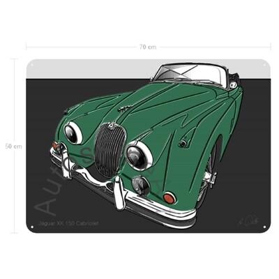 Jaguar XK 150 Cabriolet - Blechbild No. 148up