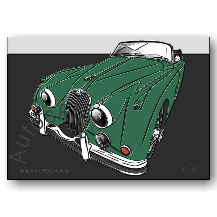 Jaguar XK 150 Cabriolet - HD Aluminiumbild No. 148up