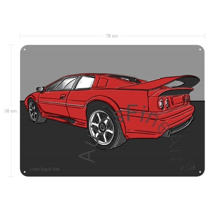 Lotus Esprit S4s - Blechbild No. 149up