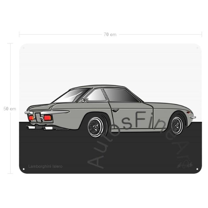 Lamborghini Islero - Blechbild No. 52up