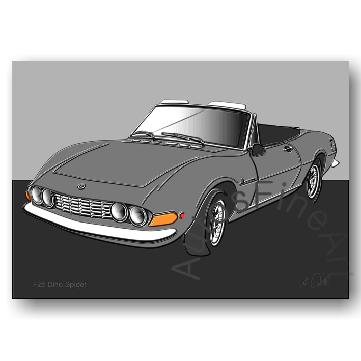 Fiat Dino Spider - HD Aluminiumbild No. 54up