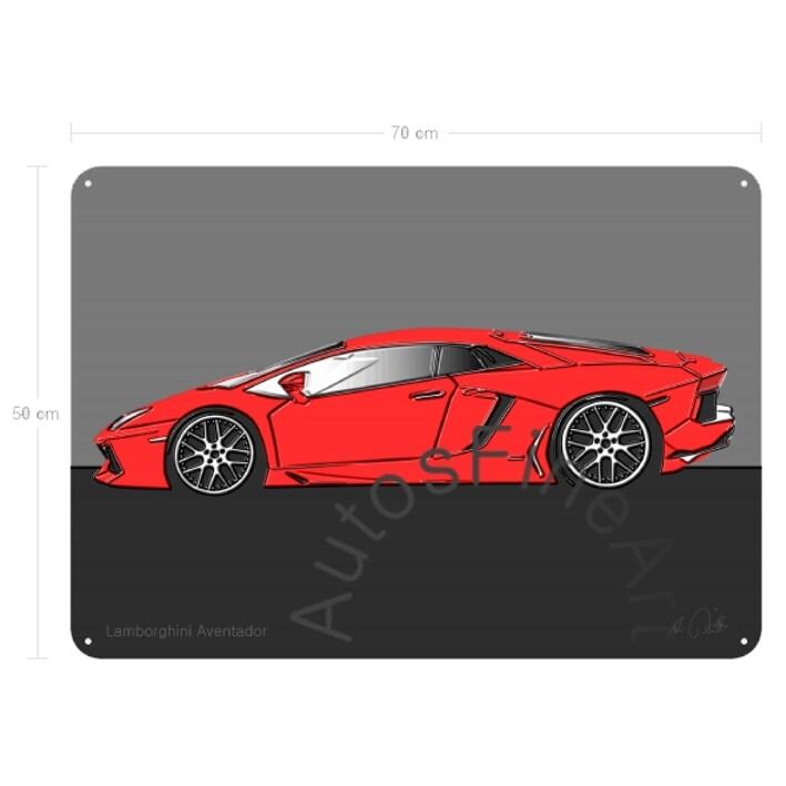 Lamborghini Aventador - Blechbild No. 55up
