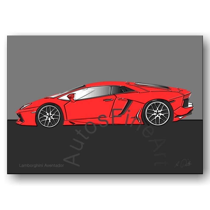 Lamborghini Aventador - Poster No. 55up