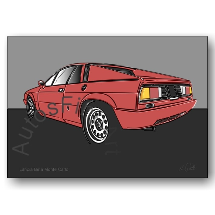 Lancia Beta Monte Carlo - HD Aluminiumbild No. 73up