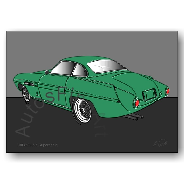 Fiat 8V Ghia Supersonic - Poster No. 72up
