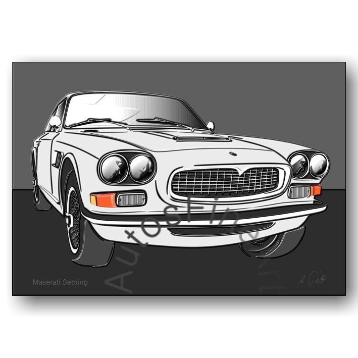 Maserati Sebring - HD Aluminiumbild No. 71up