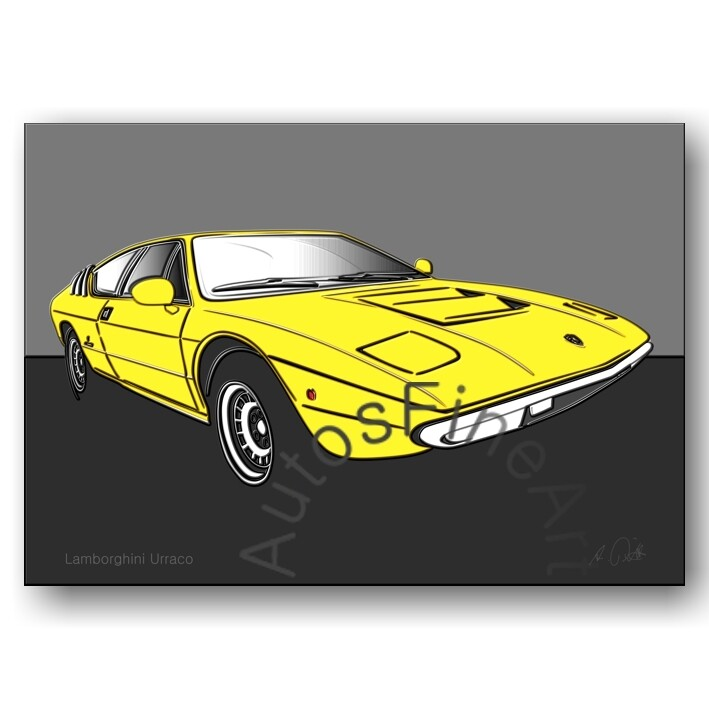 Lamborghini Urraco - HD Aluminiumbild No. 79up