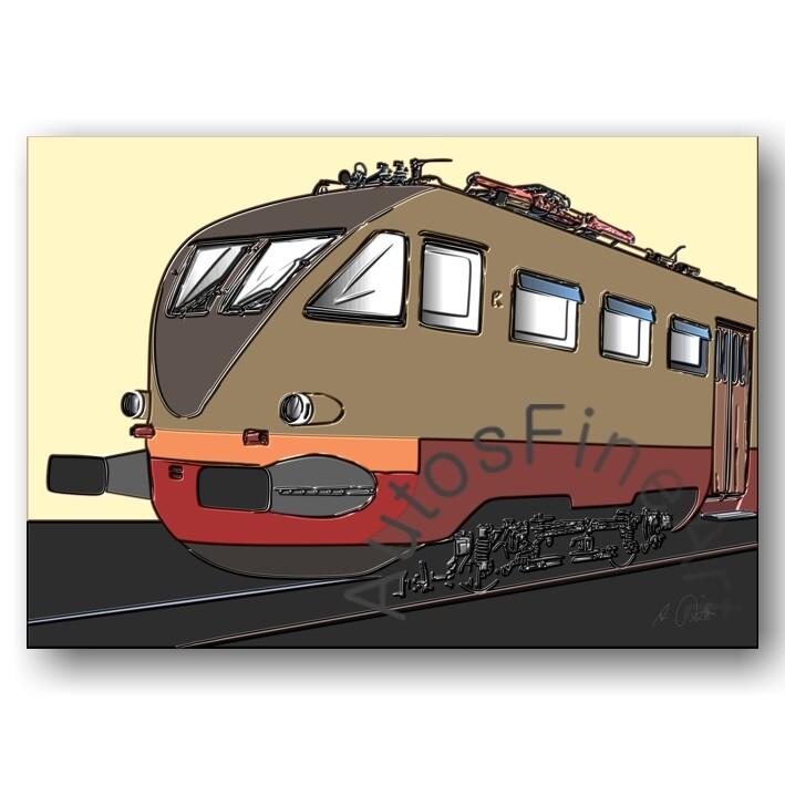 HD Aluminiumbild RAILWAY No. 3up ITALIAN TRAIN