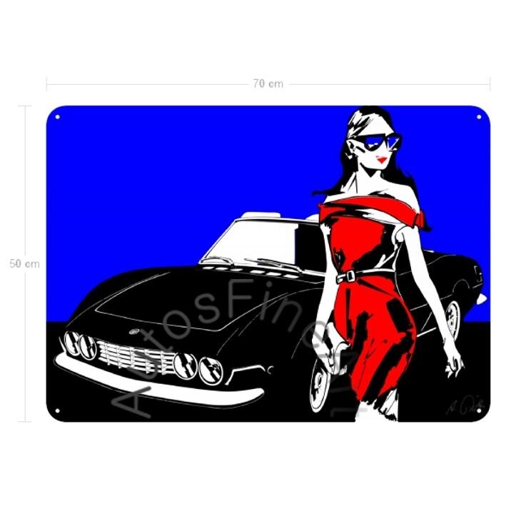 Fiat Dino Spider - Blechbild No. 54fashion