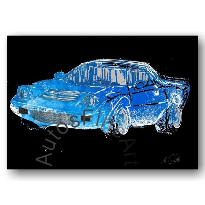 Lancia Stratos HF - HD Aluminiumbild No. 61x
