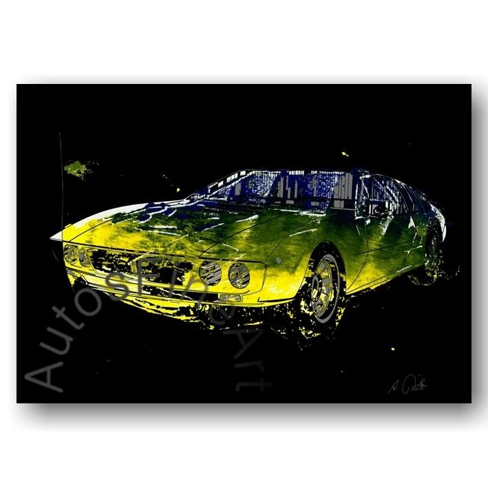 De Tomaso Mangusta - HD Aluminiumbild No. 9x