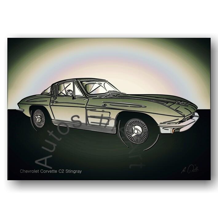 Chevrolet Corvette C2 Stingray - Kunstdruck No. 156glow