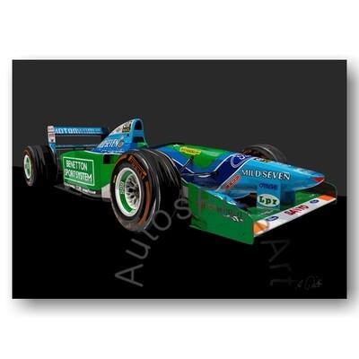 Benetton-Ford Formel 1 M. Schumacher 1994 - HD Aluminiumbild No. 169special