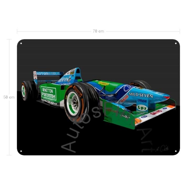 Benetton Formel 1 Schumacher 1994 - Blechbild No. 169special