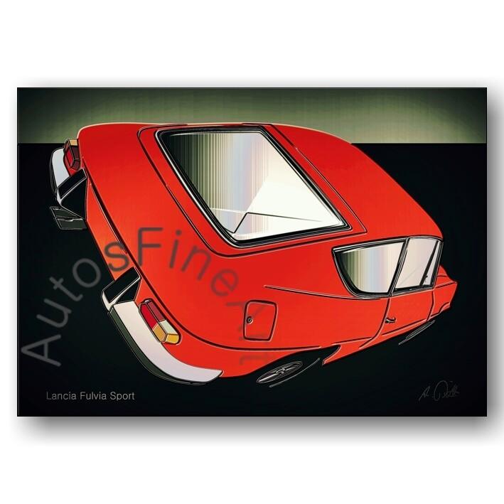 Lancia Fulvia Sport - HD Aluminiumbild No. 108glow
