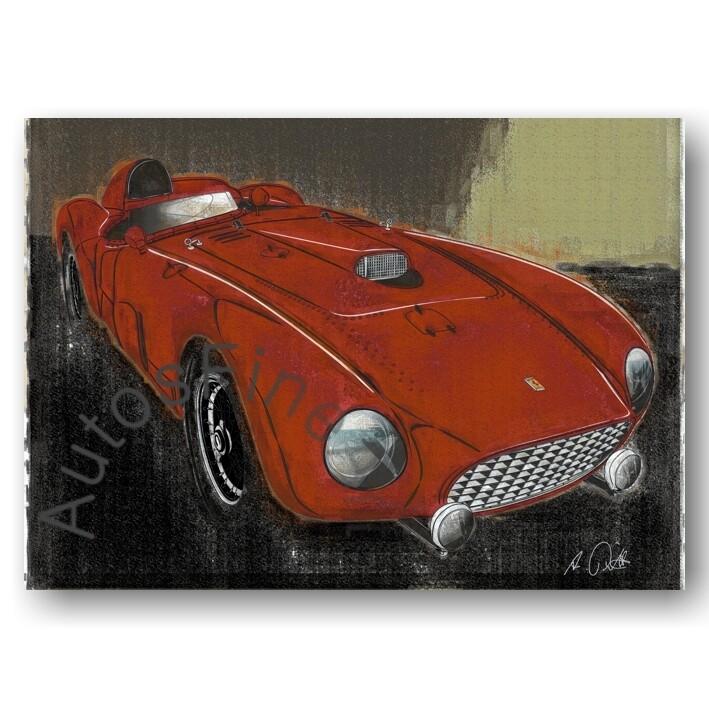 Ferrari 375MM - Kunstdruck No. 158vintage