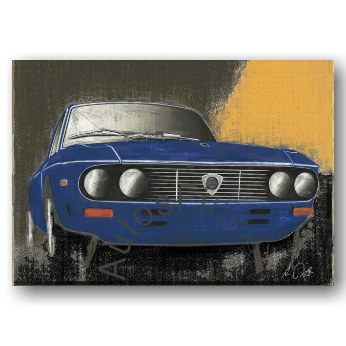 Lancia Fulvia Coupé - Kunstdruck No. 42vintage