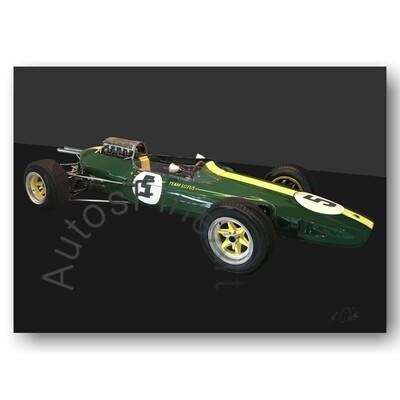 Lotus Formel 1 Jim Clark 1965 - Kunstdruck No. 170special