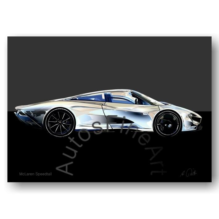 McLaren Speedtail - HD Aluminiumbild No. 177special