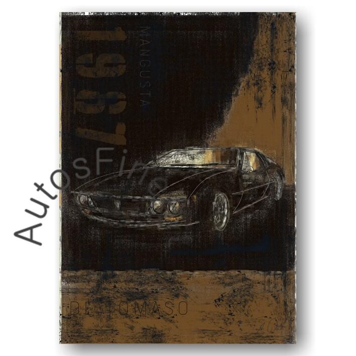 De Tomaso Mangusta - Kunstdruck No. 9Plate DIN A3