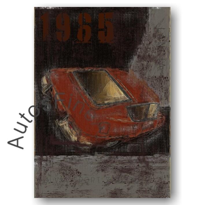 Lancia Fulvia Sport - Kunstdruck No. 108Plate DIN A3