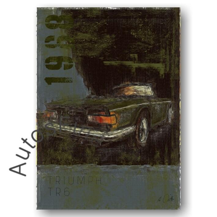 Triumph TR6 - Kunstdruck No. 135Plate DIN A3